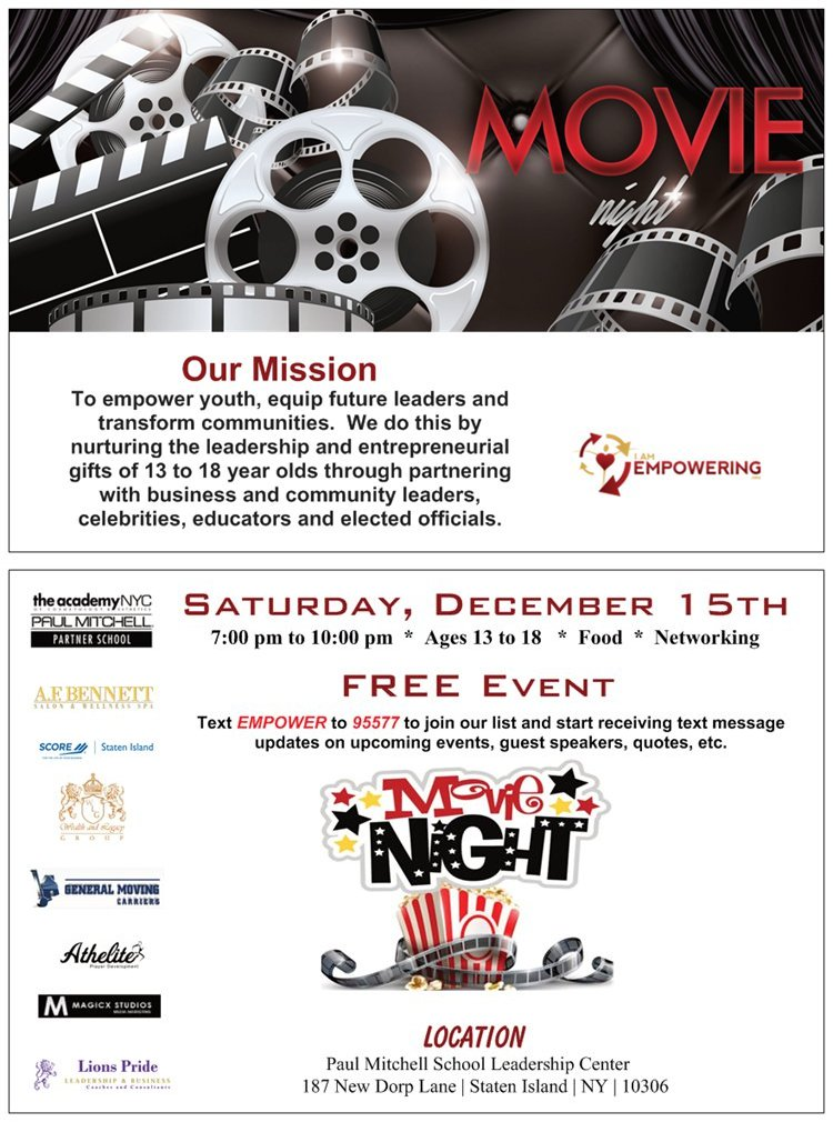 Movie Night | Empower Youth | Equip Future Leaders