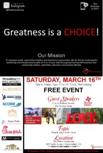 Greatness Is A Choice! @ Hilton Garden Inn | New York | United States